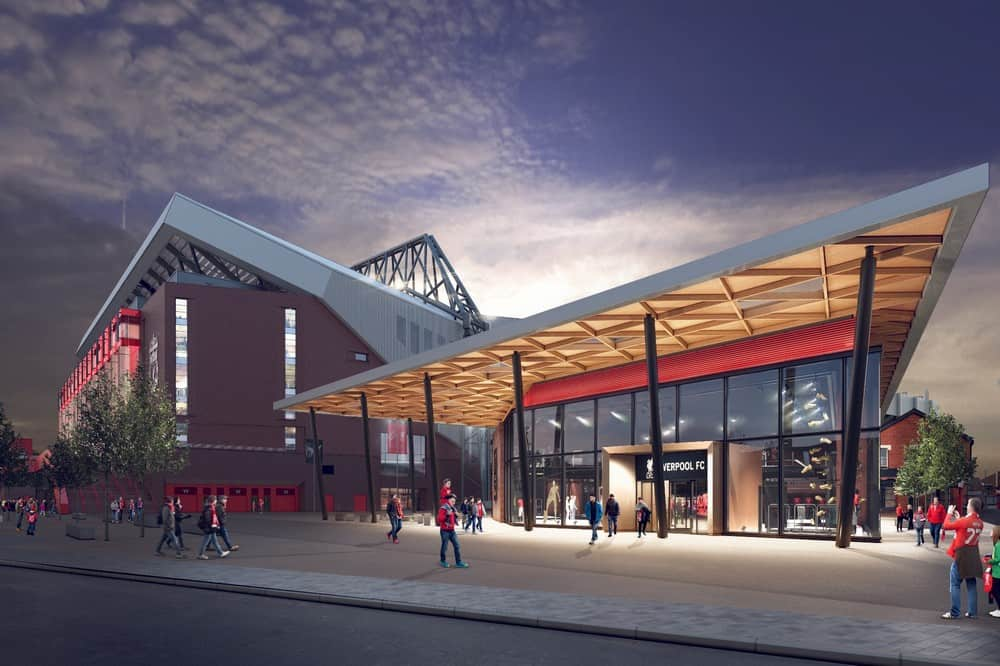 Kinlan has been awarded the masonry package to build the new Liverpool FC Store